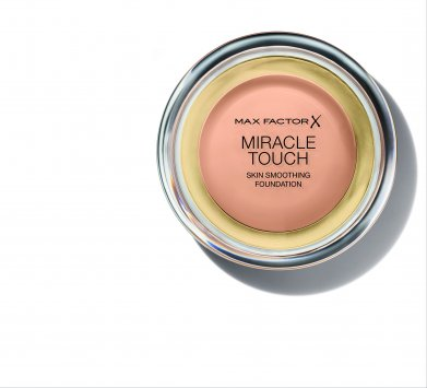 Miracle Touch Skin Smoothing Foundation - WARM ALMOND + shadow