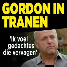 Gordon in tranen door eigen liedje