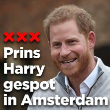 Prins Harry gespot in Amsterdam