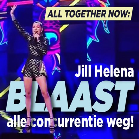 Jill Helena blaast concurrentie All Together Now weg