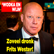 Zoveel dronk Frits Wester!