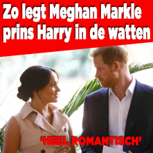 Zo legt Meghan prins Harry in de watten