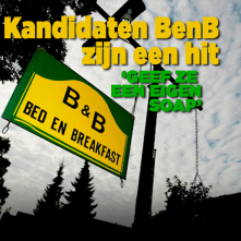 Kandidaten Bed & Breakfast zijn een hit