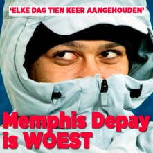 Memphis Depay is woest