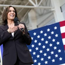 Hollywood enthousiast over keuze Kamala Harris