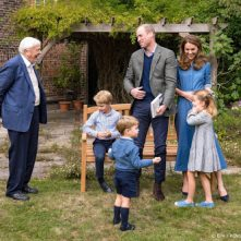David Attenborough vond George, Charlotte en Louis 'charmant'