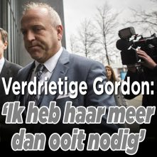 Emotionele dag voor Gordon