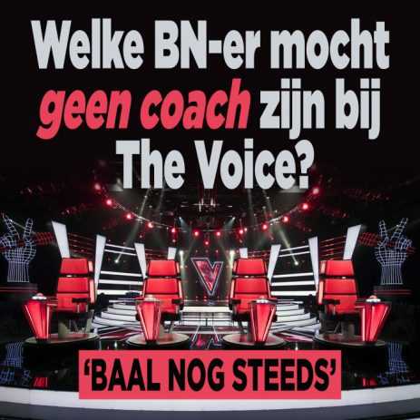 DEZE BN-er werd geweigerd als The Voice of Holland-coach