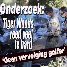 Tiger Woods reed veel te hard voor crash