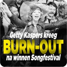 Getty Kaspers kreeg burn-out na winnen Songfestival