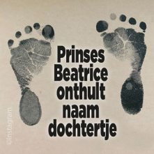 Prinses Beatrice onthult naam dochtertje